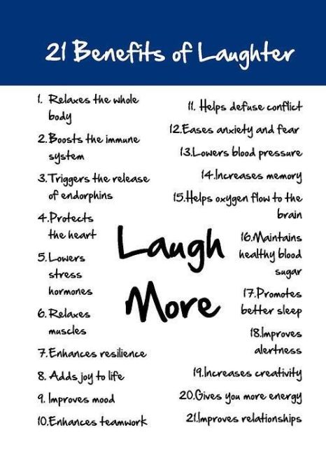21 Benefits of Laughter