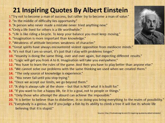 21 Inspiring Quotes By Albert Einstein