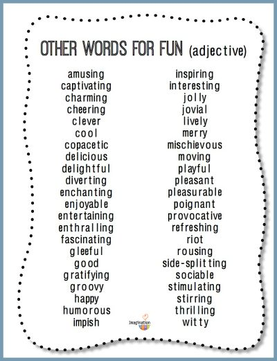 44 Ways to Say - Fun -