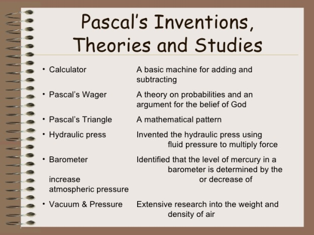 Blaise Pascal's Inventions