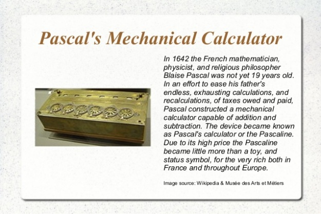 Blaise Pascal's Mechanical Calculator