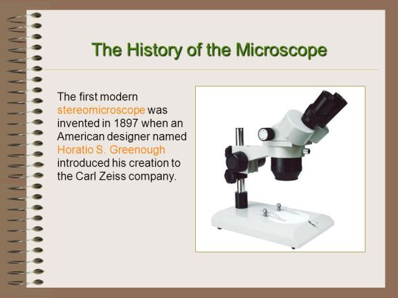 Microscope History Horatio S. Greenough