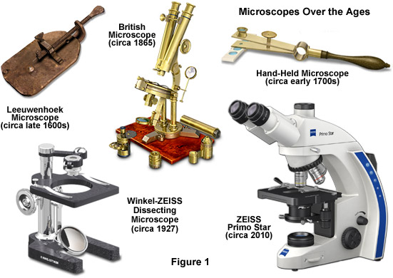 Microscpes over ages