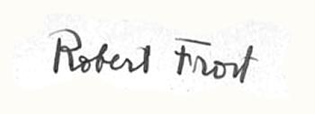 Robert Frost Signature