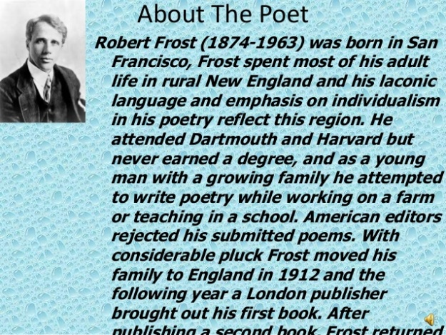 Robert Frost the Poet