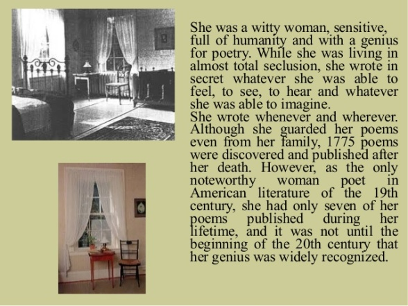 Emily Dickinson - Her life story and room