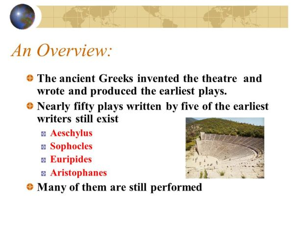 Greeks invented the Theater