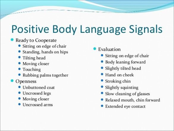 Positive Body Language Signals