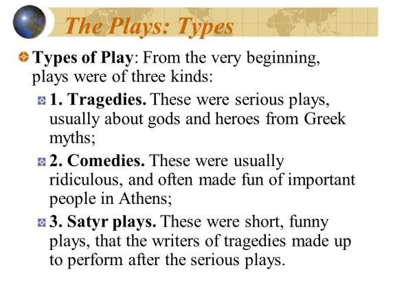 Theater - Types of Plays