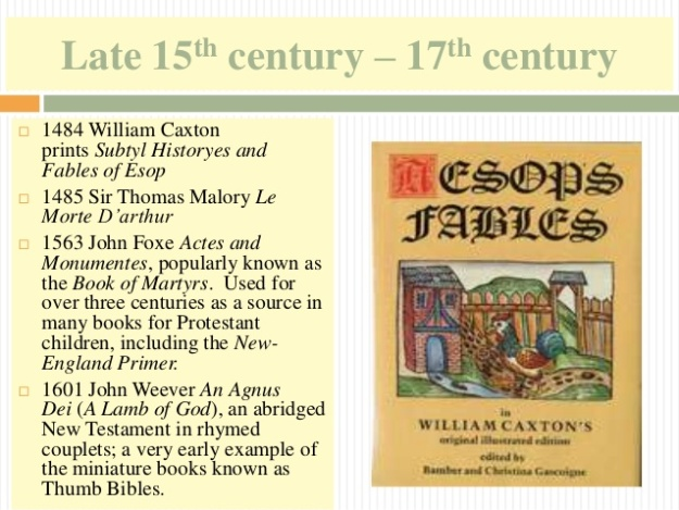 1 - Late 15th century - 17th century - Fables of Esop