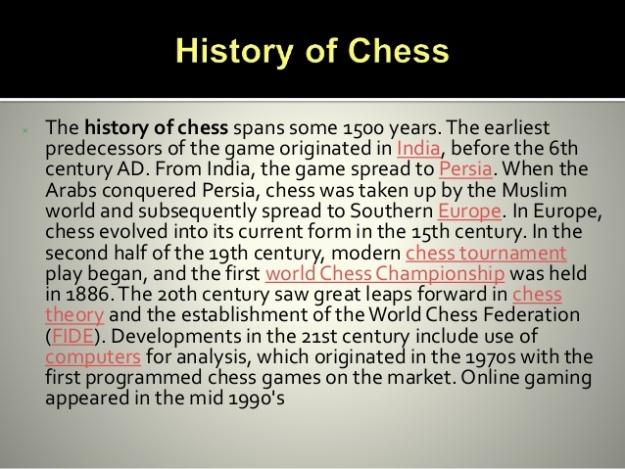 Chess History