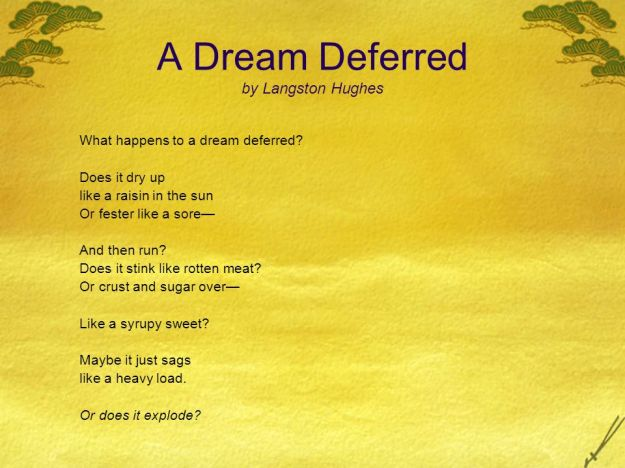 Dream Deferred Poem