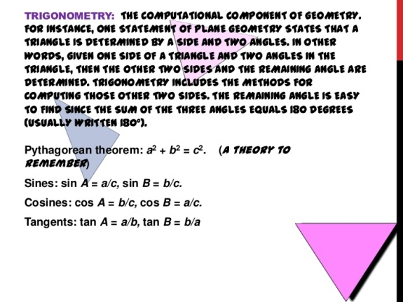 Mathematics - Trigonometry