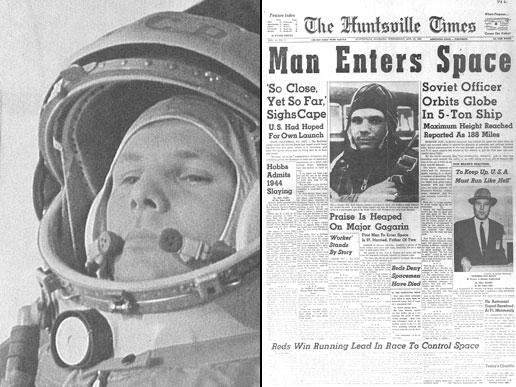 Yuri Gagarin on News