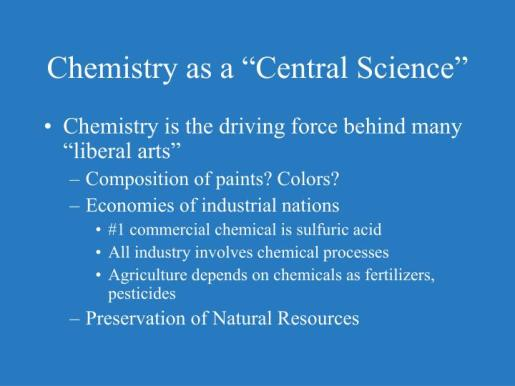 Chemistry as a Central Science