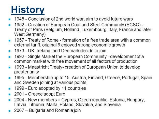 Euopean Union History