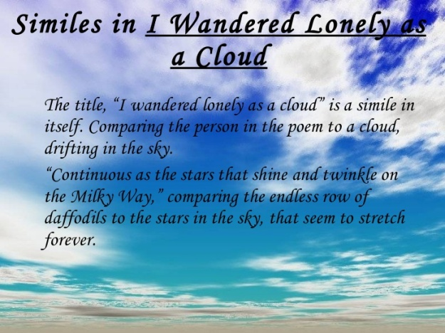"who wrote ""i wandered lonely as a cloud"" know it all i wandered lonely as a cloud similes"