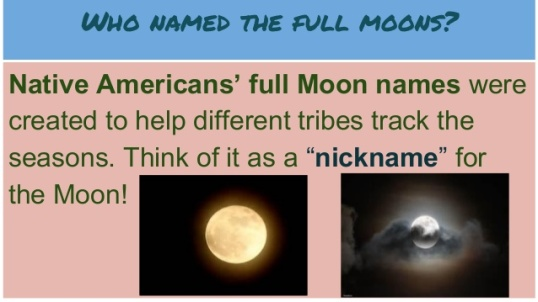 Who names the full moons