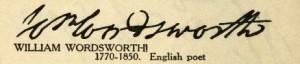 William Wordsworth Signature
