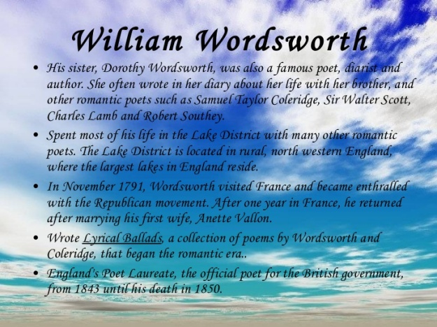 William Wordsworth Story