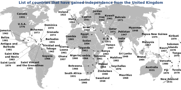 Countries Gained Independance From the United Kingdom