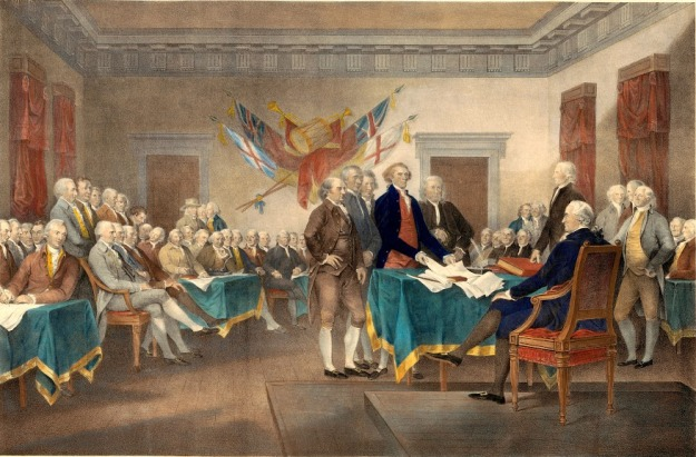 Declaration of Independence in 1776 - Painting
