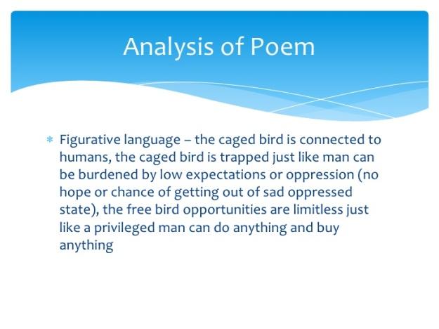 An Analysis Of The Use Of Figurative Language In I Know Why Caged  An Analysis Of The Use Of Figurative Language In I Know Why Caged Bird  Sings By Maya Angelou