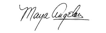 Maya Angelou Signature