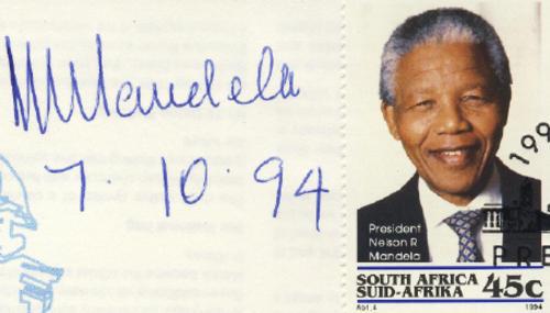 Nelson Mandela Signature