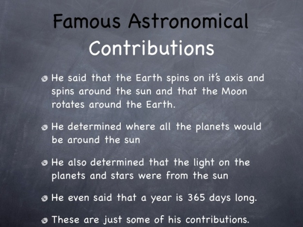 Aryabhatta - Famous Astronomical Contributions