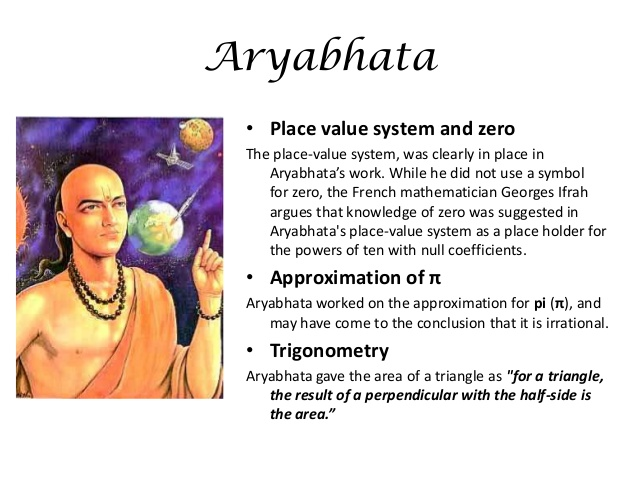 contributions of ramanujan and aryabhata to mathematics essay Contribution of india in mathematics the most fundamental contribution of india in mathematics is the invention of decimal system of enumeration, including the invention of zero.