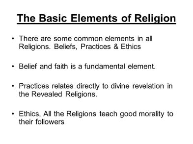 Basic Elements of Religion