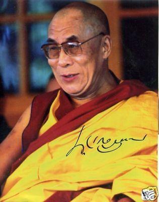 Dalai Lama Signature