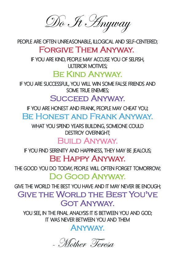 Epic image for mother teresa do it anyway printable