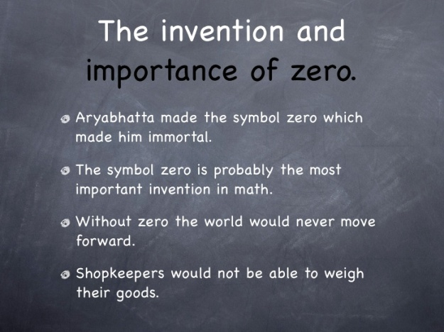 Invention and Importance of Zero