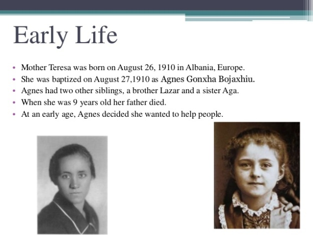 Mother Teresa - Early Life