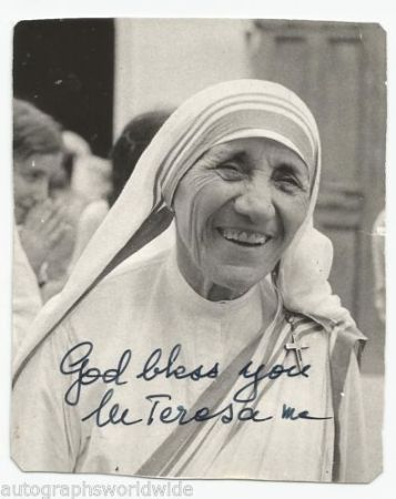 Mother Teresa Signature