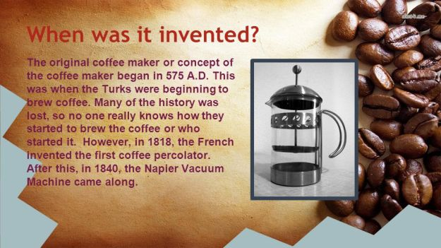 When was the Coffee Machine invented