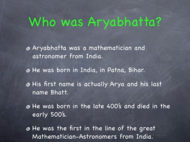 Who Is Aryabhatta