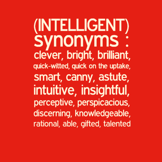 Synonyms for Intelligent | Know-It-All