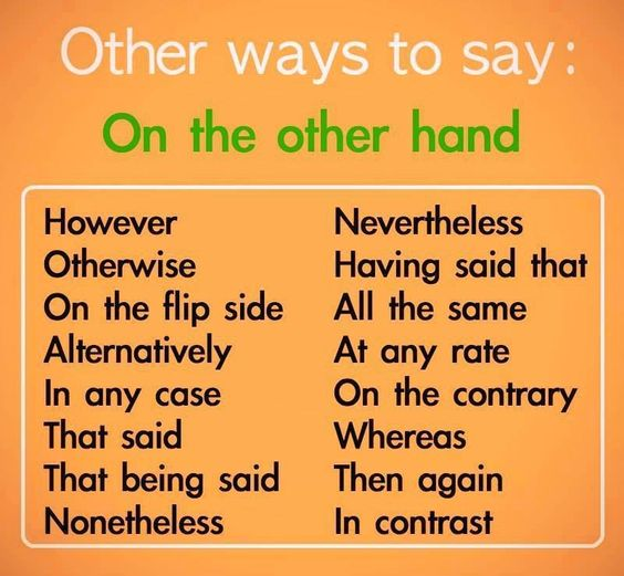 16-other-ways-to-say-on-the-other-hand