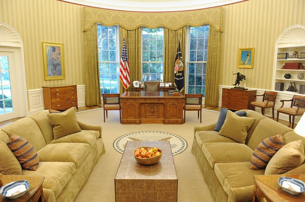 Oval Office of the White House after a redecoration