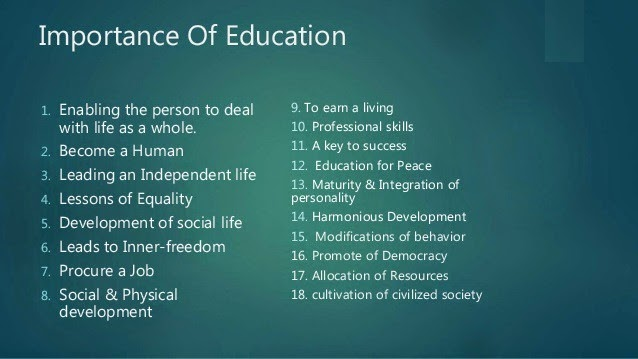 Top 18 Reasons Why Education is extremely Important | Know ...