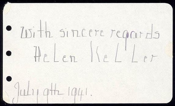 Helen Keller Signature