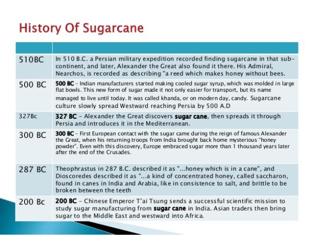 History of Sugarcane 2