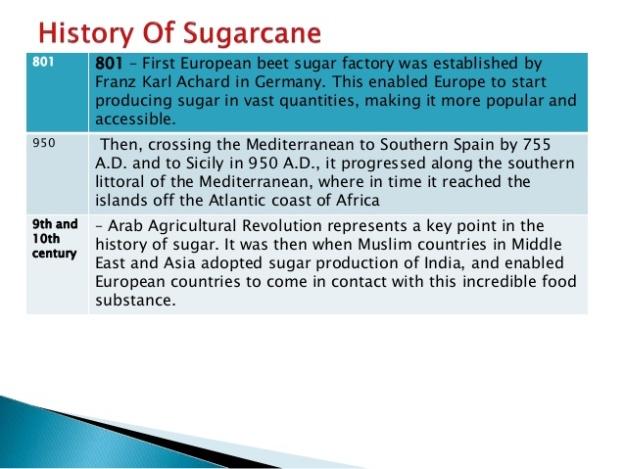 History of Sugarcane 5