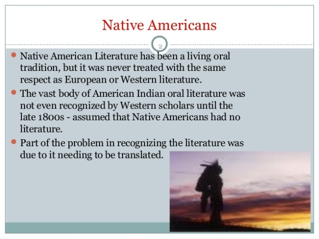 Native American Literature 1