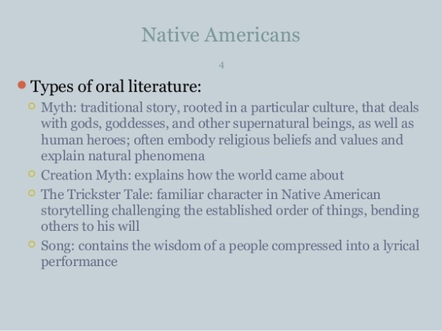 Native American Literature 3