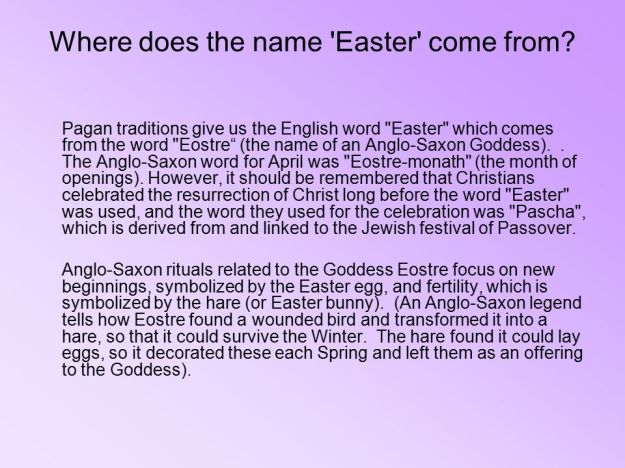 Where do the word Easter come from