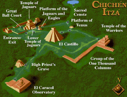 Chichen Itza Site Map